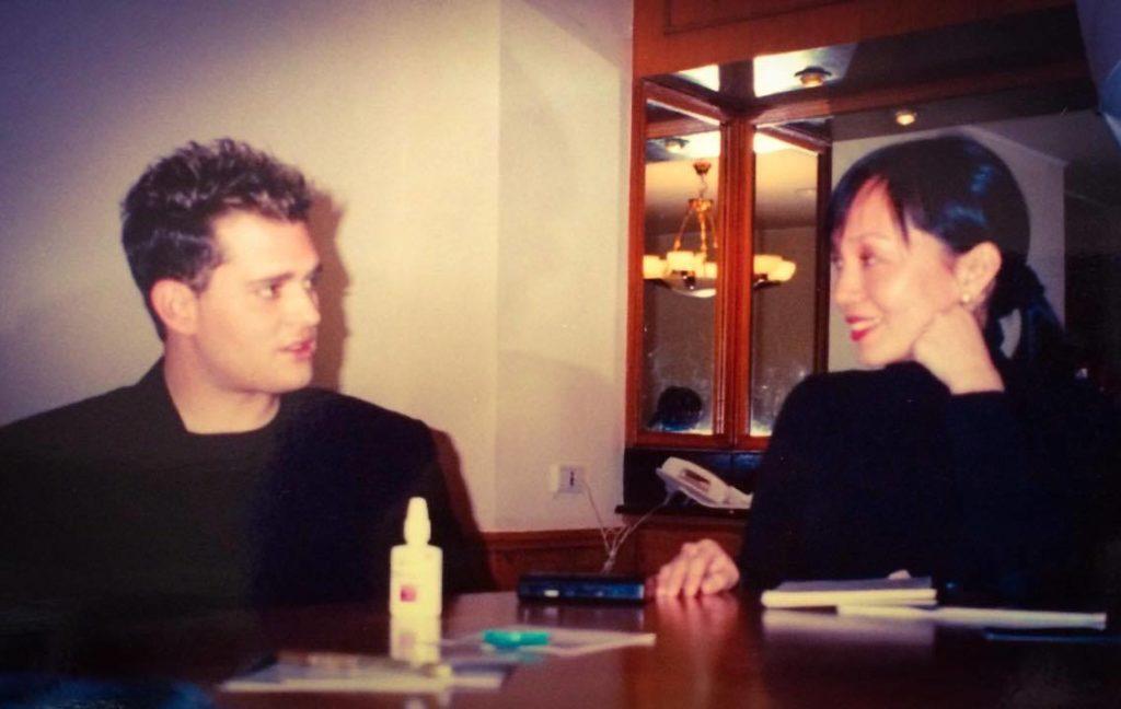 Interviewing crooner Michael Buble.