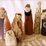 Nativity scene sewn