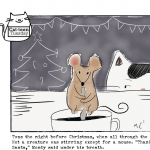 Cat-toon Tuesday: Merry Christ-mouse!