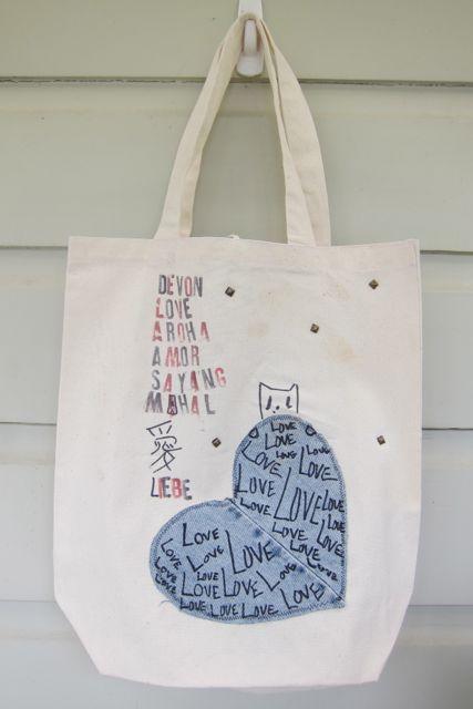 Devon's edgy, studded swim bag!
