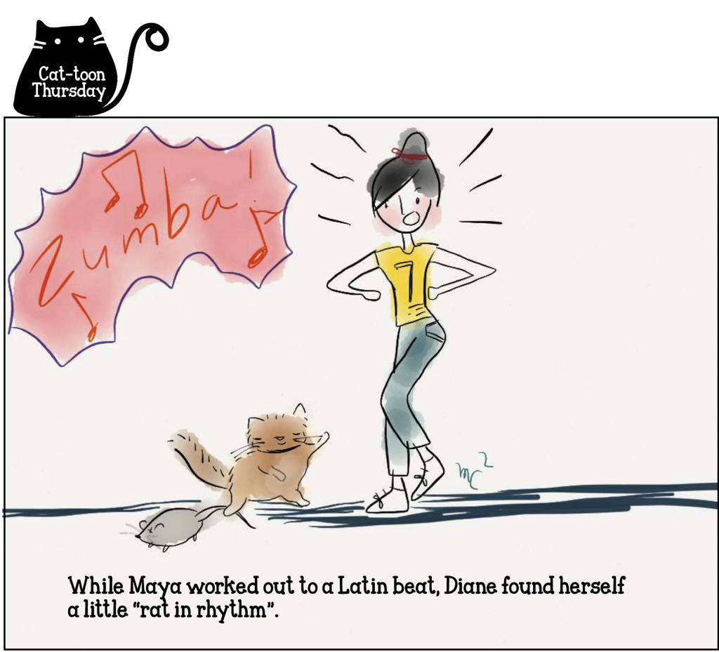 Cat-toon Thursday - rat in rhythm