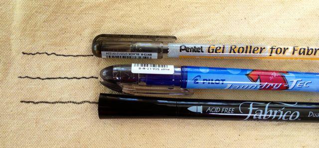 3 fabric pens