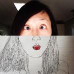 A Sketch a day (Day 9) – Goofy Selfie