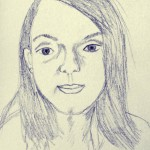 A Sketch a Day: Selfie (Day 8)