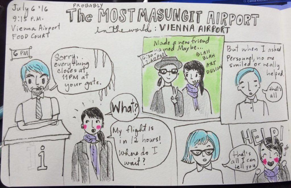 Vienna Airport cartoon